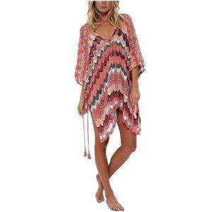 Crochet Bikini Swimsuit Floral Coverups